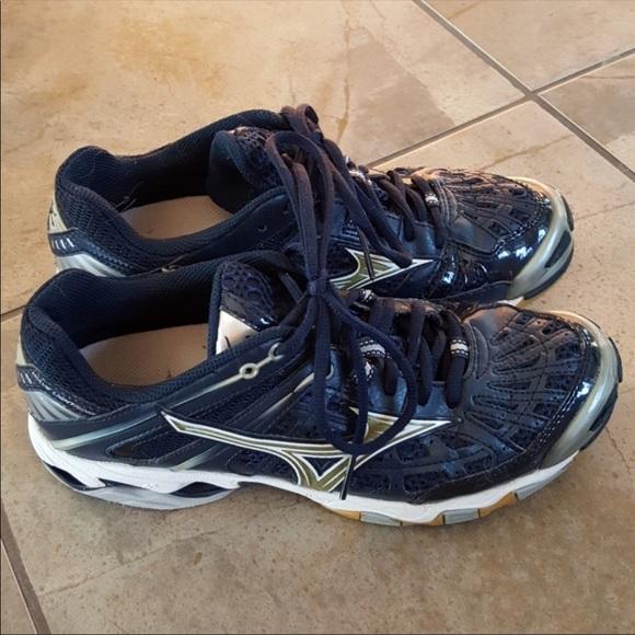 mizuno volleyball shoes navy blue precio